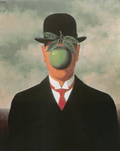 Magritte simbologia della mela miti e leggende - Magritte uomo allo specchio ...